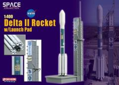 Delta II Rocket w/Launch Pad (1/400)