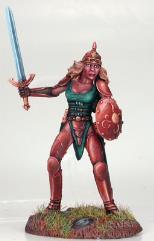 Female Fighter w/Sword & Shield