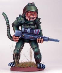 Cat Warrior w/Laser Gun