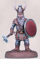 Male Dwarven Fighter w/Warhammer & Shield