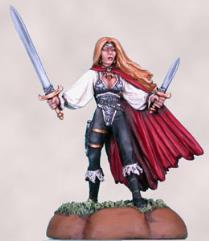 Female Rogue w/Sword & Dagger