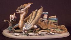 Book Wyrm - Dragon Diorama Set