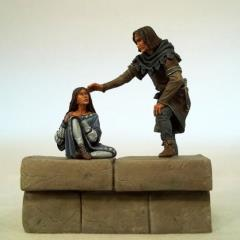 Jon Snow & Arya Diorama (54mm)