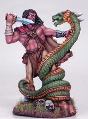 Male Barbarian w/Snake Beast