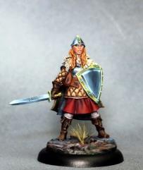 Female Warrior w/Sword and Shield