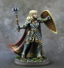 Female Cleric w/Mace & Shield