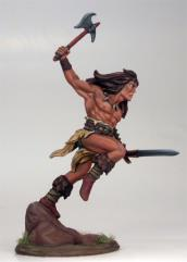 Male Barbarian w/Axe & Sword