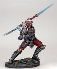 Male Dark Elf w/Double Bladed Sword