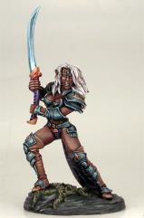 Female Dark Elf w/Bastard Sword