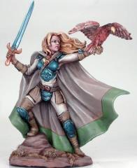 Female Ranger w/Long Sword & Falcon