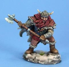 Male Dwarven Fighter w/Great Axe