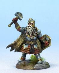 Male Dwarven Cleric w/Warhammer