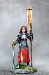 Female Paladin w/Sword & Banner