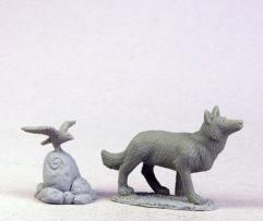 Shepherd Hound  and Bird
