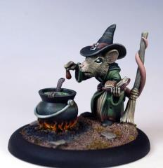 Female Mouse Witch w/Cauldron (2010 Halloween Tribute)