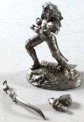 Female Dark Elf Warrior w/Bastard Sword #1