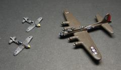 US B-17 vs. German Fw-190