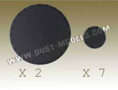 Round Bases - Treadplate Surface, Black