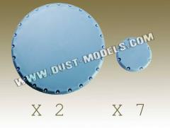 Round Bases - Smooth Surface, Blue-Gray