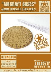 80mm Round Aircraft Bases - Cracked Sand (Premium Edition)