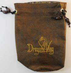 Brown w/Yellow Cloth Dice Bag (Large)