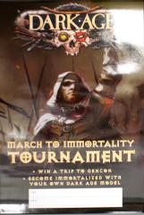 Dark Age Miniatures - March to Immortality Tournament Poster