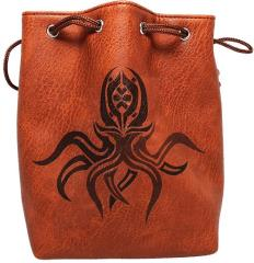 Brown Leather Dice Bag - Cthulhu