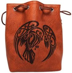 Brown Leather Dice Bag - Raven