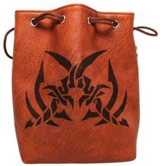 Brown Leather Dice Bag - Assassin's Blade