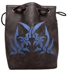 Black Leather Dice Bag - Assassin's Blade