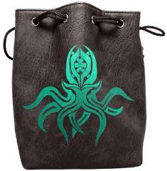 Black Leather Dice Bag - Cthulhu