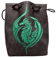Black Leather Dice Bag - Dragon's Breath