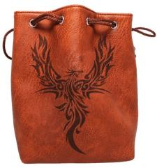 Brown Leather Dice Bag - Phoenix