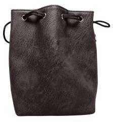 Black Leather Dice Bag - Plain