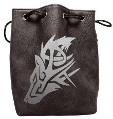 Black Leather Dice Bag - The Wolf