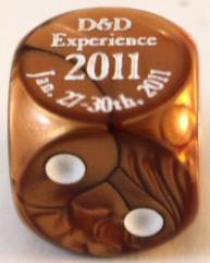 D&D Experience 2011 Promo Die