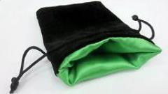 "4"" x 5"" Velvet Dice Bag - Elven Green"