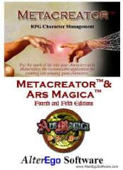 Metacreator w/Ars Magica