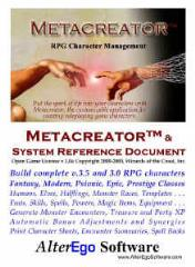 Metacreator w/System Reference Document (3.0 & 3.5)