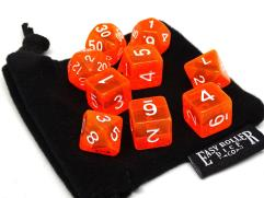 Orange Translucent w/White (10)