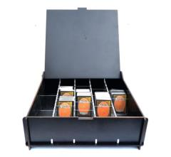 Wooden Trading Card Storage Box - Black