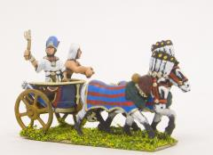 Pharoh & Driver in 2-Horse Chariot