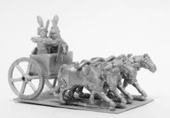 Kushite - 4-Horse Chariot w/Archer Spearman & Driver