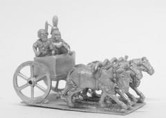 Kushite - 4 Horse Chariot w/General, Spearman, & Driver