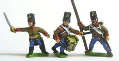 Grenz Command Pack - Officers, Standard Bearers & Drummers