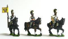 Cuirassier Command Pack - Officer, Standard Bearer & Trumpeter