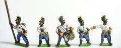 Hungarian in Helmets Command Pack - Officer, Standard Bearer & Drummers, Halted