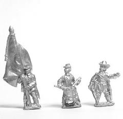 Command Pack - Officer, Standard Bearer, & Drummer - Stationary