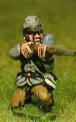 Infantry in Kepi & Tunic w/Full Pack & Equipment - Kneeling & Firing w/Fixed Bayonet