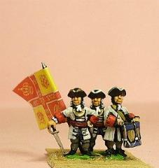Line Infantry - Officer, Standard Bearer, & Drummer